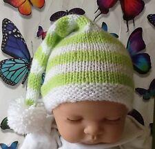 Hand Knitted Baby Pixie/elf Hat (0-3 Months)
