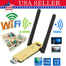 USB3.0 1200Mbps Long Range Dual band 5GHz Wireless WiFi Adapter Antenna Receiver