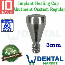 10x Implant healing cap Abutment Osstem regular compatible hiossen 3mm