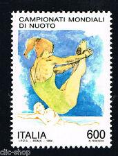ITALIA FRANCOBOLLO CAMPIONATI MONDIALI DI NUOTO TUFFATRICE 1994 nuovo**