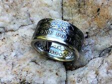 Morgan Silver Dollar Coin Ring. Handcrafted .900% silver, 1878-1904. Size 8-15,