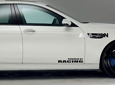 POWERED BY RACING Vinyl Decal sticker emblem sport speed car door logo BLACK