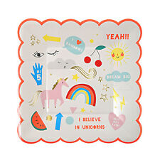 Party Supplies Paper Plates Unicorn Rainbow Birthday Party Plates Pack of 8