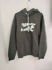 Nike Men's Fleece Graphic Tracksuit Track Suit Hooded Top & Jogs Set Green Small