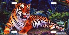Tiger Siberian Jungle Striped Cat Art Color Vanity License Plate Aluminum NEW