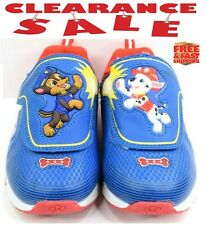 Nickelodeon Paw Patrol Boys Light Up Boys Sneaker Shoes - Blue/Red - Toddler NEW