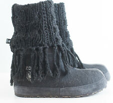 ZDAR Masha High Knit Lambswool Wool Hemp Winter Snow Boots Sz 41/US 11 Handmade