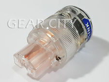 ppc30 Copper IEC C13 Mains Power Plug Female OFC Connector Cable Cord Clear HiFi