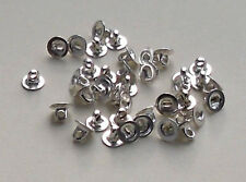 20 x Silver Plated Button Backs/HOMOLOGUE pads with 5 mm diameter Pad