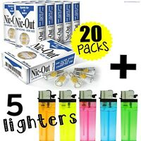 (20) Packs NIC-OUT Cigarette (600 Disposable Filters) + 5 FREE LIGHTERS ~ COMBO