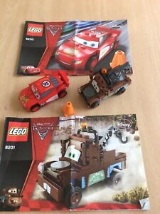 Lego DISNEY PIXAR CARS 2 McQueen & Mater. 8200. 8201 With Instructions.