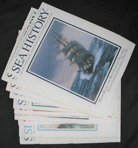 10 Sea History National Maritme Historical Society Magazines 1991 - 1998