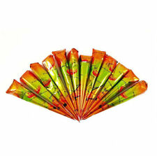 15 Red Mirchi Henna Cones+Applicator Temporary Tattoo kit body ink Herbal mehndi