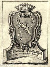 EX-LIBRIS de Claude Edouard de BONA. Tournus.