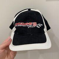 Dodge Racing Motorsports Ram Embroidered Baseball Hat Adjustable Black Red White