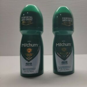 2 PACK-Mitchum Invisible Anti-Perspirant & Deodorant Roll-On, Unscented 3.4 oz