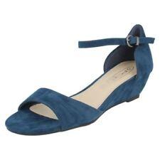 Sandali e scarpe cinturini alla caviglia tessile formale per il mare da donna