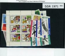 Germany DDR Complete Mint  Year Set 1971 at 1/3 Scott Catalog Price