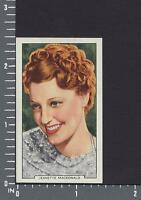 Jeanette MacDonald My Favourite Part  Gallaher Cigarette Tobacco Card #37