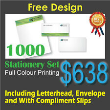 1000 Stationaries Set Full Colour Printing (Front Only) on 100gsm bond paper