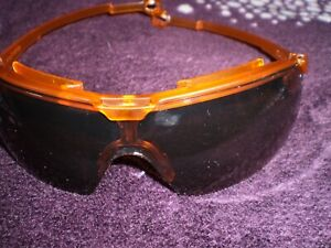 UVEX GRAVITY ZERO Safety glasses ,brown lens orange frame , Z folding