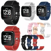 Large/Small Silicone Sports Wrist Watch Band Strap for Fitbit Versa Replacement