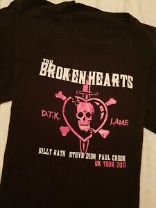 'The Broken Hearts' Johnny Thunders & Heartbreakers tribute tour Tshirt XL