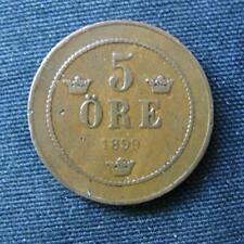Munt Zweden/Sverige: 5 Öre 1899 in zeer fraai