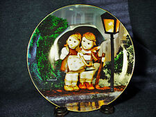 "M.J. Hummel Little Companions Collector Plate ""Stormy Weather"" Mib 1989 Danbury"