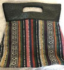 Clutch Rug Bag Carpet Purse Colorful Striped Hippie Hobo bag Handbag GLOBAL SHIP