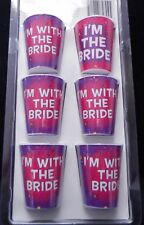 NEW Set of 6 Bachelorette/Bridal Party Shot Glass Necklaces