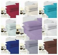 Easy Iron Percale Polycotton Fitted Bed Sheet 100% Poly Cotton S / 4FT / K / SK