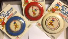 Set of 3 1983 Wham-O Sam the Olympic Eagle  Frisbees Red White & Blue ES11 $Drop