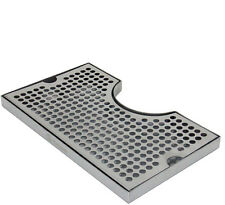 """12"""" x 7"""" Stainless Kegerator Beer Drip Tray With Cut Out No Drain"""