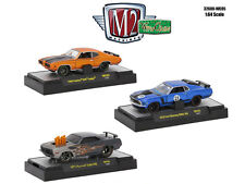 WILD CARDS SET OF 3 CARS W/CASES 1/64 DIECAST MODEL CARS BY M2 32600-WC05