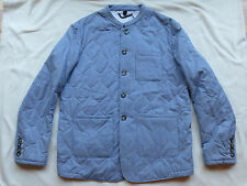 NWT $1995 BURBERRY PRORSUM Blue/White Stripe Quilted Coat/Jacket US 40 EU 50