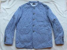 NWT $1995 BURBERRY PRORSUM Blue/White Stripe Quilted Coat/Jacket US 40 EU 50