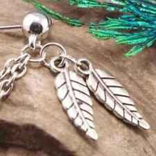 2PCS Women Punk Rock Chain Long Tassel Dangle Ear Cuff Wrap Earrings Ear Clip