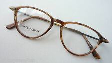 Brillenfassung Unisex Antiklook klassisch Gestell Acetat-Metall Brauntöne size M