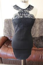 BNWT TOPSHOP BLACK BODYCON LACE STRAPPED DRESS SIZE 8 RRP £42