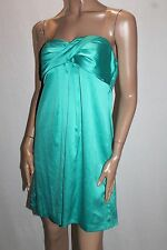Portmans Designer Aqua Blue Silky Strapless Cocktail Dress Size 12 BNWT #SM67