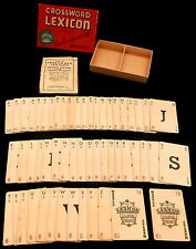 Parker Brothers CROSSWORD LEXICON Card Game (1938) Complete in Original Box