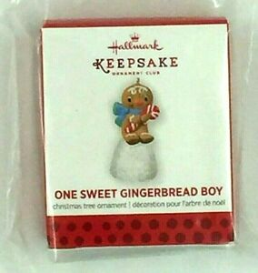 "Hallmark 2013 KOC mini repaint ornament, ""One Sweet Gingerbread Boy"""