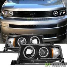 Black 2004 2005 2006 Scion Xb LED Halo Projector Headlights Headlamps Left+Right