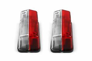 Hella Side Marker Clear Red Lights Pair Set With Bulbs Eriba Caravan Motorhome
