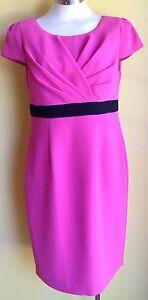 Michaele Louisa Pink & Blk Dress Size 12 NWT RRP $319.00