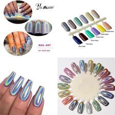 Polvo holográfico, pigmento para uñas, polvo de uñas de cromo y espejo unicornio