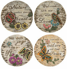4Pc Garden Stepping Stone Hand Painted  Famous Quotes