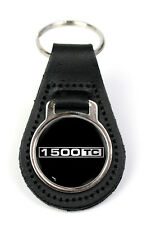 Triumph 1500 TC Logo Quality Black Leather Keyring