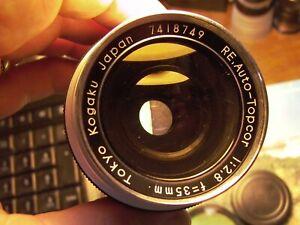 Topcon  RE auto Topcor 35mm F:2.8 #7418749 Classic Chrome satin, beautiful 9++++